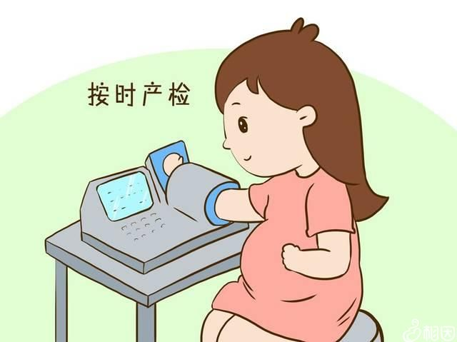 孕妇按时做检查