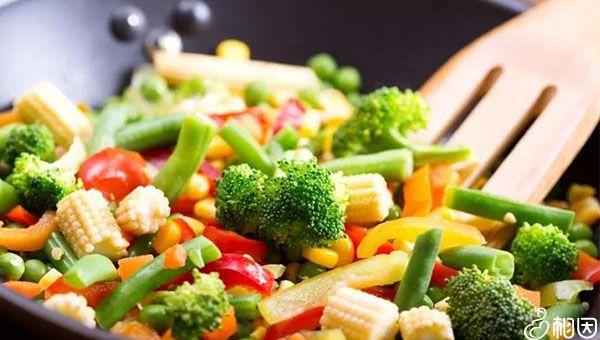 饮食以蔬菜为主