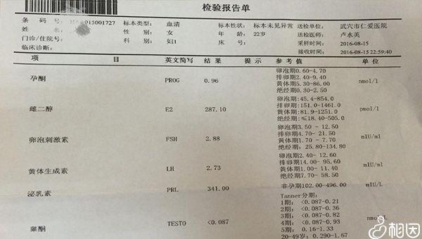 医院的FSh检查单