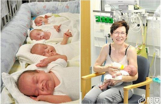 世界上最年长的四胞胎母亲