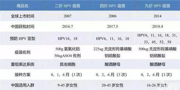 国内外hpv疫苗