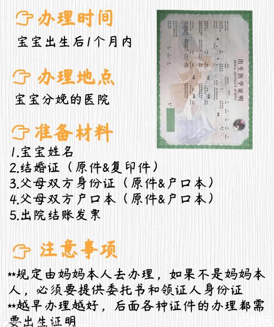 出生证办理流程图